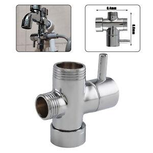 Round Shower 3 Way Diverter Valve Part Water Segregator Handheld Replacement New