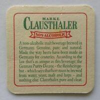 Marke Clausthaler Non Alcoholic Step Up To Taste Of Germany Coaster (B336)
