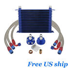 10an 15-row Universal Engine Transmission Trust Type Oil Cooler Relocation Kit