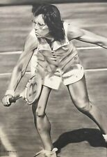 Billy Jean King Painting by Topps Artist Dave Hobrecht - Wood Print