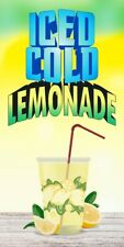 Ice Cold Lemonade Vinyl Vertical Banners Choose A Size Carnival New