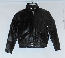 Arizona Girls Faux Leather Bomber Jacket Black M/5-6 NWT