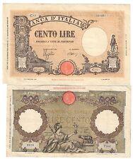 100 lire grande B 09 12 1942 bb+ / 100 lire 23 06 1941 roma guerriera q.bb N.683