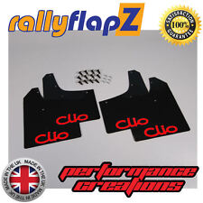 rallyflapZ RENAULT CLIO MK3 (05-12) Mud Flaps Mudflaps Black Logo Red 3mm PVC