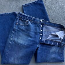 Vintage Levis Made in USA 501XX Blue Denim Jeans Pants 36x32 Button Fly