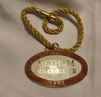 Vintage Hexham Race Club Badge #146 1999 In Great Condition