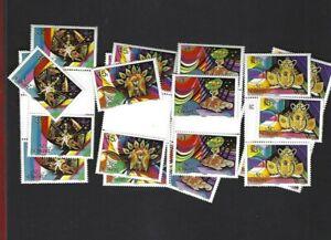 St. Vincent sc#743-6 Single & Gutter x2 (1984) Complete MNH