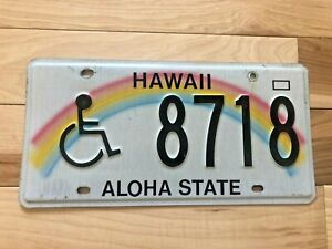 Hawaii Handicapped License Plate
