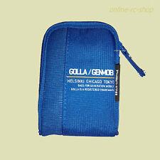 Golla Kameratasche Tasche G1245 blau mit Karabiner gepolstert Gürtelschlaufe