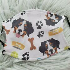 New ListingFace Mask Bernese Mountain Dog washable, adjustable 2 filters inc