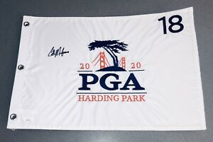 Collin Morikawa Signed & Inscribed 2020 PGA Championship Golf Flag Fanatics JSA