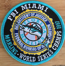 FBI - Miami - Florida Marlins 1997 World Series Champs Genuine *Kokopelli Patch*