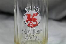 Zoller Bräu - Brauerei Bierglas mit Facetten Schliff - 6/20 L wohl um 1920 /S256