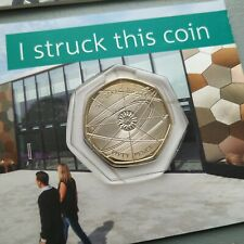 More details for 2018 sir isaac newton 50p coin - royal mint limited mintage, bu ( toned )