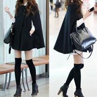 SALE Women Loose Batwing Wool Poncho Winter Warm Coat Jacket Cloak Cape Outwear