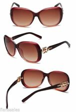 Gafas de sol de mujer diseñadores marrón marrón