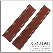 22x18 mm RIOS1931 for Panatime - Cognac Pilot Leather Watch Band For Breitling D