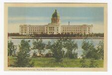 Provincial Parliament Building REGINA Saskatchewan 1930-40s PECO Postcard 2