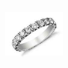 Diamond 14k Gold Round Shape Dia Certified Eternity Ring 4.00 Carat
