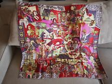foulard carré HERMES soie ZABAVUSHKA silk scarf 90 cm Evgenia Miroshnichenko
