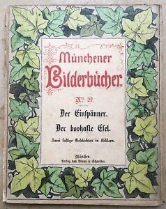 Münchener Bilderbücher. Handkolorierte Holzschnitte. Erste Ausgabe 1874