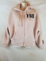 Pink Victorias Secret Collegiate Collection PSU Jacket Hoodie Tan XS Long Sleeve