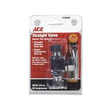 "Ace Straight Chrome 1/4 Turn 3/8"" x 3/8"" Shut-Off Valve 419652"