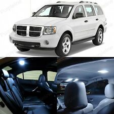 8 x Xenon White LED Interior Light Package Kit For Dodge Durango 2004 - 2009