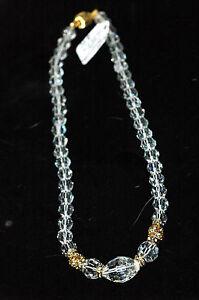Classy Ladies Swarvoski Crystal Bead Necklace With gold Rondels