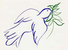 Dove Color Drawing  - Doves - Three Doves - Peace