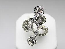 Right Hand Diamond Ring 1.74 Carat Vintage Flower