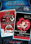 How To Make A Monster / Blood Of Dracula Double Feature Cult Classics DVD RARE