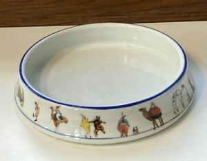 Nursery Baby Porcelain Bowl with Circus Scenes Czecho-Slovakia ca.1920s Perfect