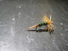 New listing 6 Size 18 Brown Hackle Peacock Premium Ligas Fly Fishing Flies
