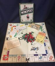 vtg monopoly game 1954 parker brothers popular edition