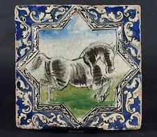 Antik islámicos Qajar estrella relief cerámica loseta mosaico Islamic tile-K