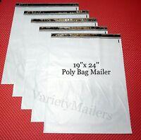 "6 Large Poly Bag Envelopes 19""x 24"" Self-Sealing Shipping Mailers"