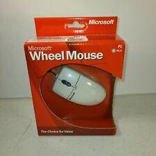 New Vintage 2001 Microsoft  Wheel Mouse Windows PC in box