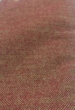 Red And gold Herringbone(M13Mill Dyed Wool for Rug Hooking, Applique, Penny Rugs