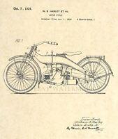 Official 1924 Harley Davidson Motorcycle US Patent Print - Art Print - 9