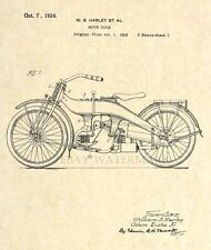 Official 1924 Harley Davidson Motorcycle US Patent Print - Art Print - 9