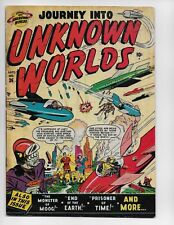 JOURNEY INTO UNKNOWN WORLDS 36 (#1) - G- 1.8 - GOLDEN AGE SCIENCE FICTION (1950)
