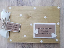 PERSONALISED VINTAGE WEDDING GUEST BOOK WOODEN SCRAPBOOK/PHOTO BOOK /MEMORIES