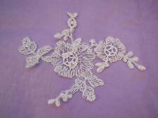 An ivory bridal floral lace Applique/wedding lace motif for sale.Sold by piece