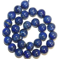 GR2356 Natural Blue Lapis Lazuli 14mm Round Gemstone Beads 15""