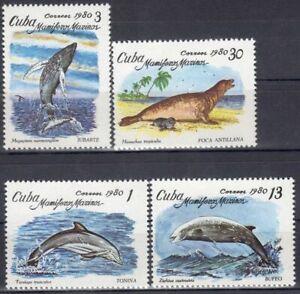 sCUBA Sc# 2334-2337  MARINE MAMMALS sea life ocean fish CPL SET of 4   1980  MNH