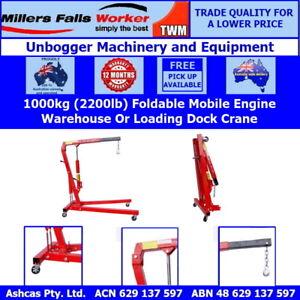 Millers Falls TWM Foldable Hydraulic Engine Crane 1000kg (2200lb)