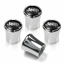 Jeep Chrome Tire Stem Valve Caps