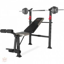 Weight Bench Set With Weights Olympic Benches Home Gym Equipment Workout Fitness