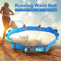 AONIJIE Sports Race Number Belt Reflective Triathlon Bib Gel Holder Fuel Loops.